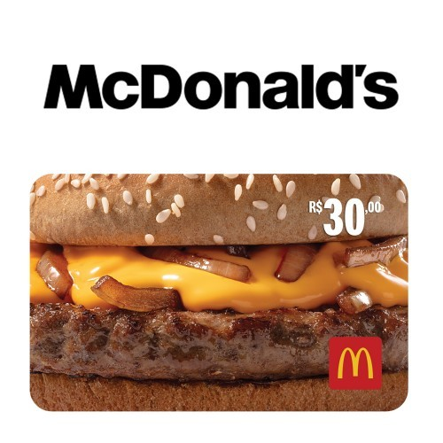 Gift Card McDonald's Virtual - R$ 30