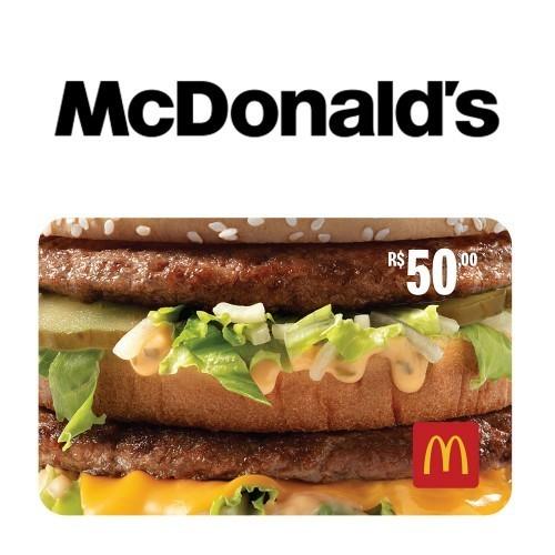 Gift Card McDonald's R$ 50