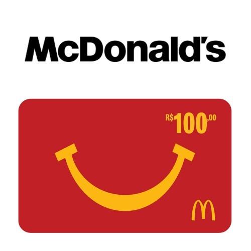 Gift Card McDonald's R$ 100