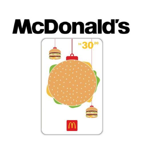 Gift Card McDonald's Natal R$ 30