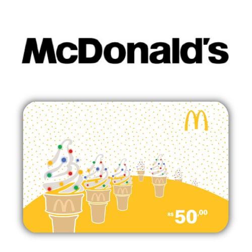 Gift Card McDonald's Natal R$ 50